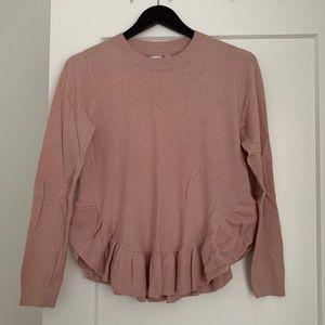 2/$15- Twik Ruffle Hem Sweater